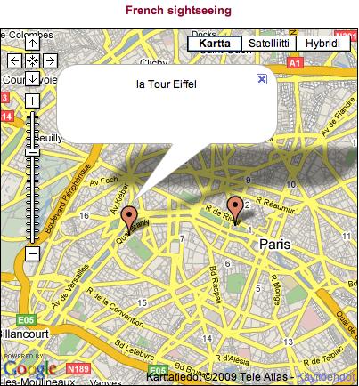 Google Maps extension